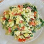 Vegetable and Egg Breakfast Scramble