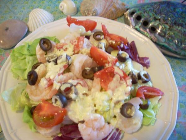 Baby Boomer Recipes   Shrimp Salad with Turmeric Dressing
