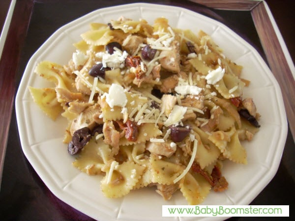 Baby Boomer Recipes | Pasta | Chicken with Farfalla and Goat Cheese