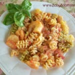 Baby Boomer Recipes | Shrimp Feta and Rotelli Pasta with Homemade Vodka Sauce