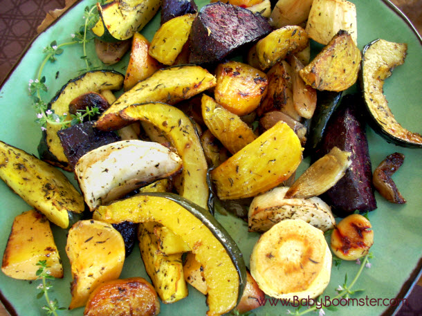 Baby Boomer Recipes   Thanksgiving   Herb Roasted Root Vegetables