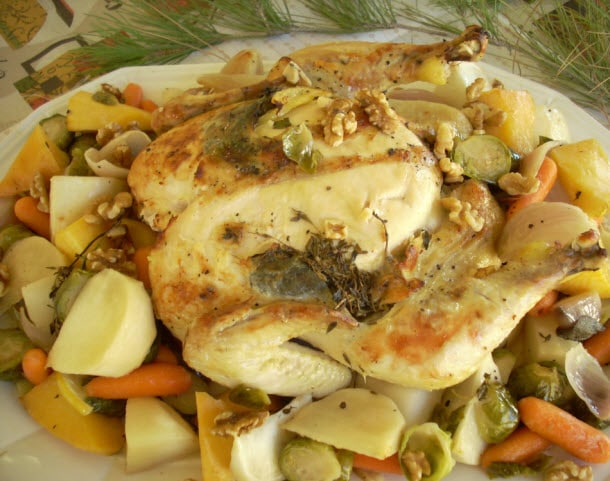 Baby Boomster Recipes | Chicken | Lemon Chicken with Herbs and Root Veggies