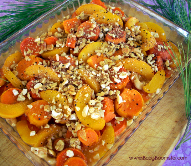 Thanksgiving Yam And Cashew Peach Bake Recipe