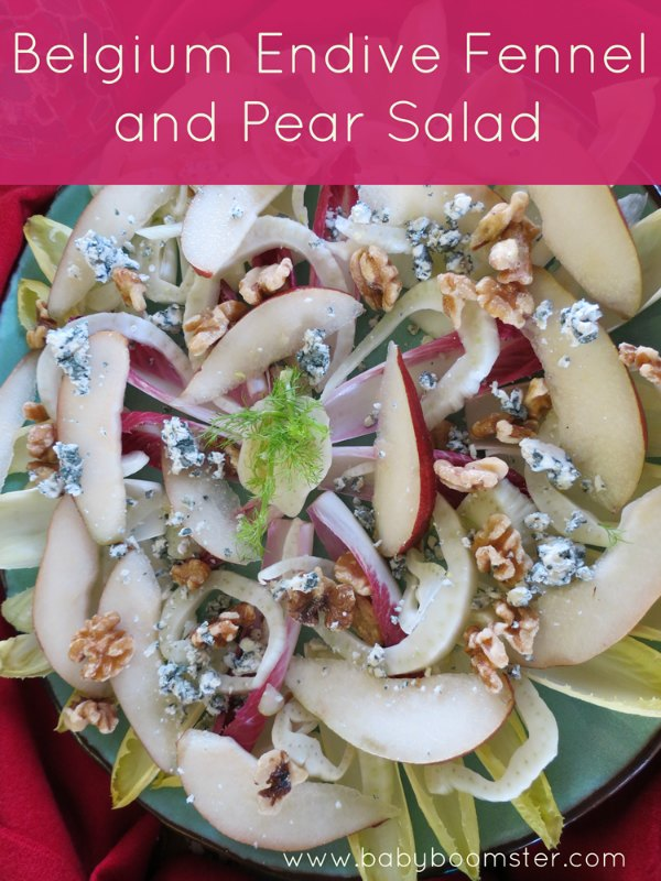 Baby Boomer Recipes | Salad | Belgium Endive Fennel and Pear Salad