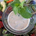 Mint Tahini Salad Dressing