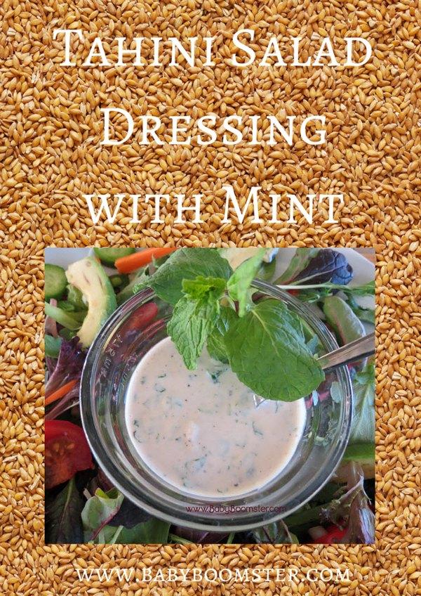 Baby Boomer Recipes | Salad Dressing | Tahini Salad Dressing