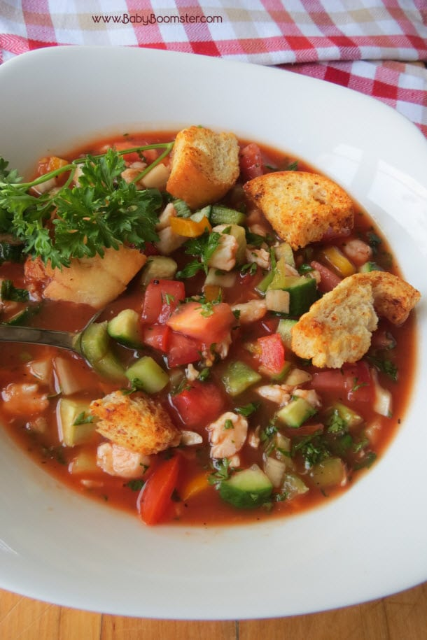 Baby Boomer Recipes | Soup | Crab Gazpacho