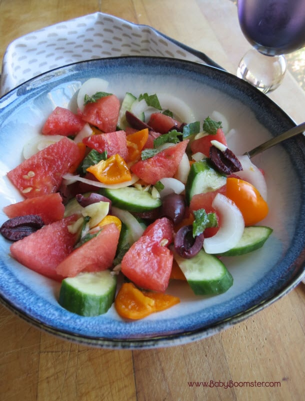 Baby Boomer Recipes | Watermelon Vegetable Salad