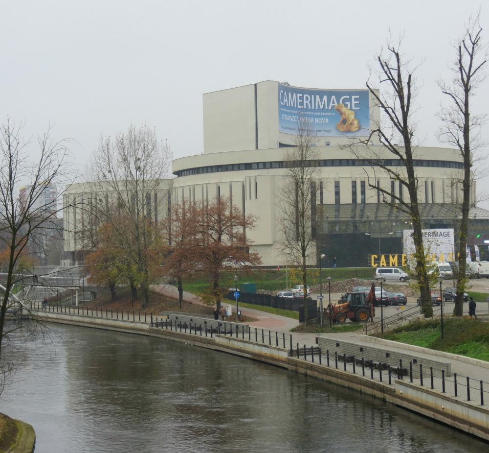 The Bydgoszcz Opera house on the Byda River in Poland #Bydgoszcz #Poland #Operahouse #Camerimage