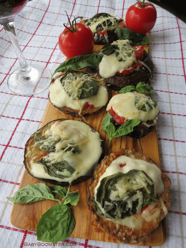 Baby Boomer Recipes | Eggplant Mini Pizzas