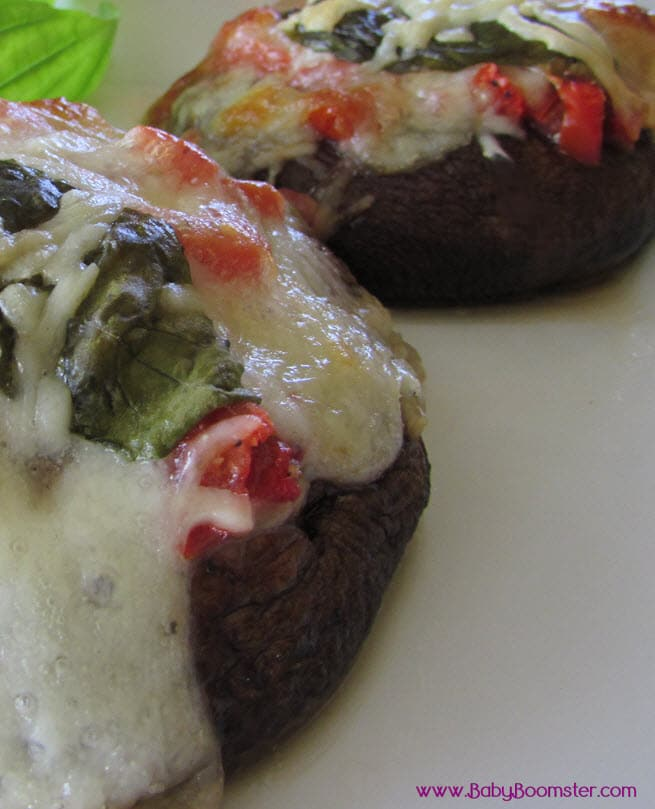 Baby Boomer Recipes | Portobello mini pizzas