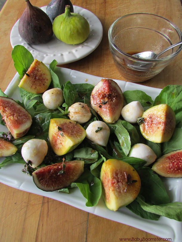 Baby Boomer Recipes | Fig and Mozzarella Salad with Raspberry Dressing