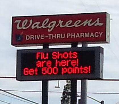 Get balance rewards for immunizations at Walgreens #shop