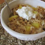 Oatmeal with Pineapple walnuts and golden raisins