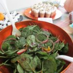 Halloween Spinach Salad with Dressing - @freshandeasy - @wildoats