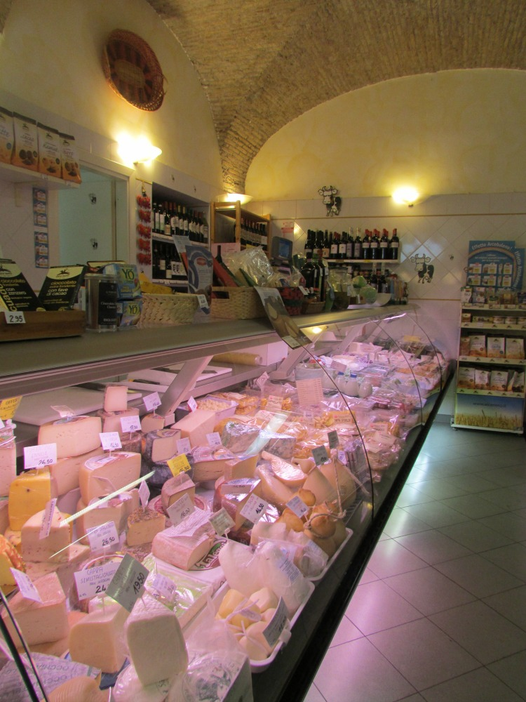 Baby Boomer Travel | Italy | Rome Cheese Shop