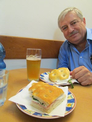 Eating Panini Sandwiches Lucca