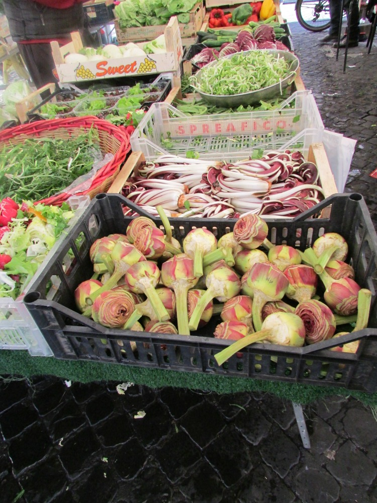 Baby Boomer Travel | Italy | Vegetables at Campo di Fiori Market Rome