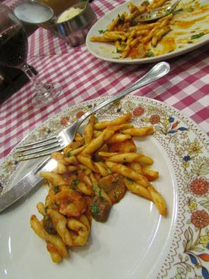 Baby Boomer Travel | Italy | pasta with porcini shrimp - Rome