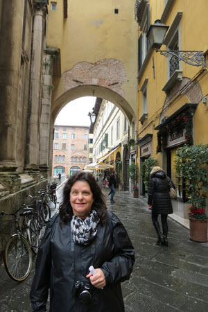 Rebecca in Lucca Italy