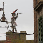 Roof top with Pinocchio in Montepulciano