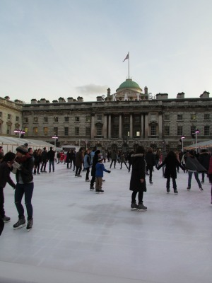Baby Boomer Travel | London | Somerset House Ice Skating Rink