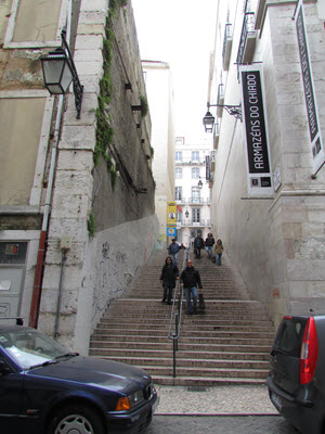 Stairs in Lisbon Portugal