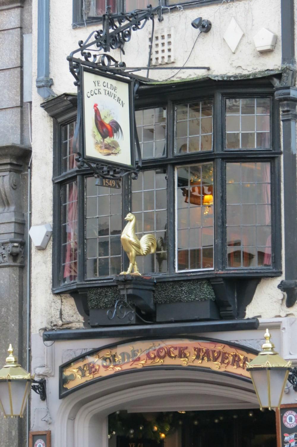 Baby Boomer Travel | England | Ye Olde Cock Tavern Pub
