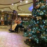 Baby Boomer Travel | Cruising | Cunard Queen Elizabeth - harpist