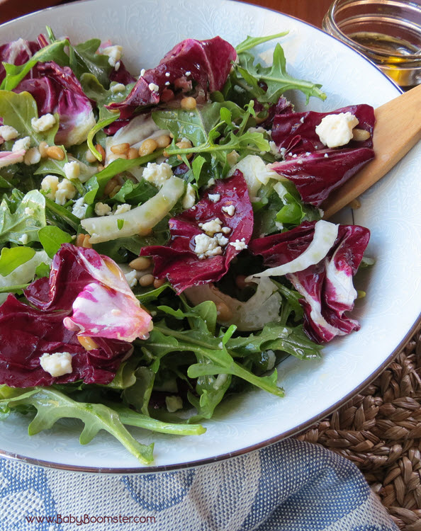 Baby Boomer Recipes | Italian Inspired Salad with Arugula and Radicchio