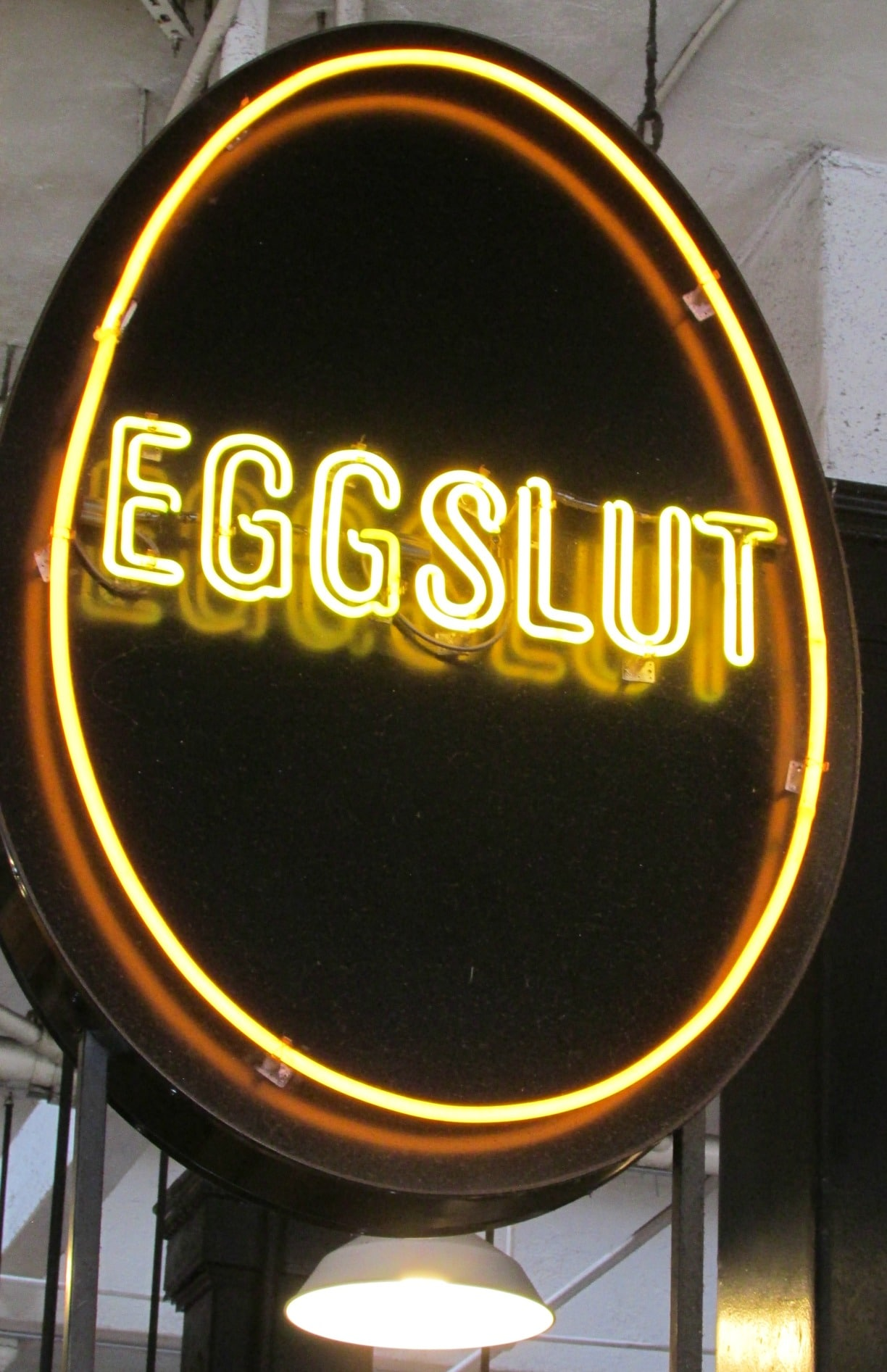 EggSlut in the Grand Central Market DTLA is a hugely popular place to have breakfast. There's always a long line.