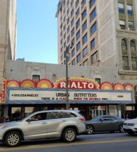 The Rialto Theatre opened in 1917 as a nickolodean. It was purchased by Sid Grauman. #oldtheater #oldmovietheater #losangeles #LAtheaterdistrict