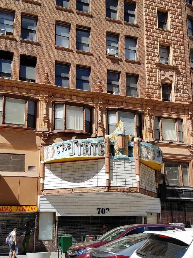 The State Theatre in downtown Los Angeles old theater district opened in 1921 with a seating capacity of 2,450. It hosted movies and live vaudeville performances The Rialto Theatre opened in 1917 as a nickolodean. It was purchased by Sid Grauman. #oldtheater #oldmovietheater #losangeles #LAtheaterdistrict