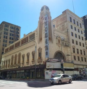 The Tower Theatre in downtown Los Angeles's old theater district on Broadway hosted the first West Coast screening of The Jazz Singer. It was the first LA theater wired for sound.#oldtheater #oldmovietheater #losangeles #LAtheaterdistrict