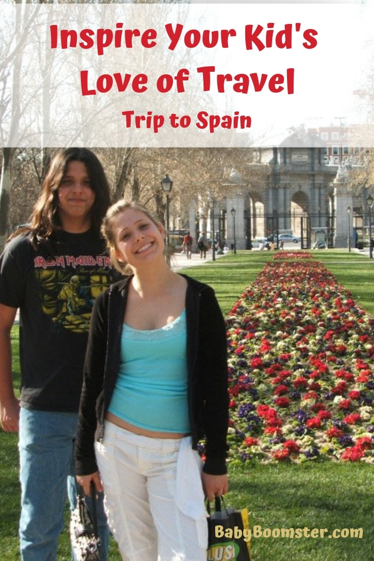 When you inspire your kid's love of travel you open them up to new ideas and experiences. They also understand better how other people outside of their city or country live. We took a trip to Spain when they were teens and they've been traveling ever since. #kidsandtravel #kidstravel #travelingwithkids #Spain #Madrid #Toledo #young travelers