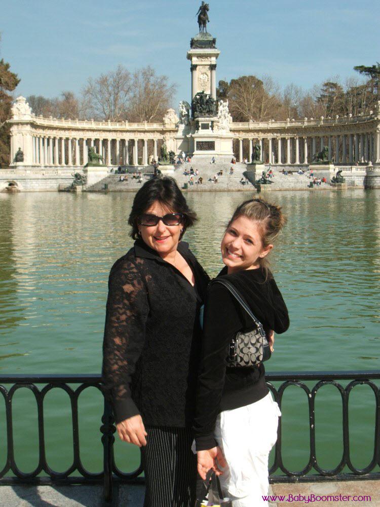 Kazia and Rebecca at lake near Prado Museum