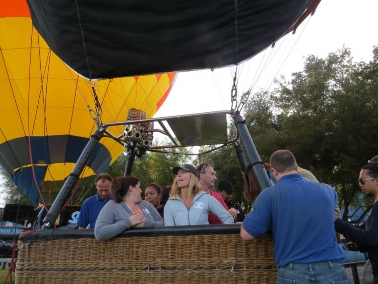 Temecula Wine and Balloon Festival - Group in Balloon