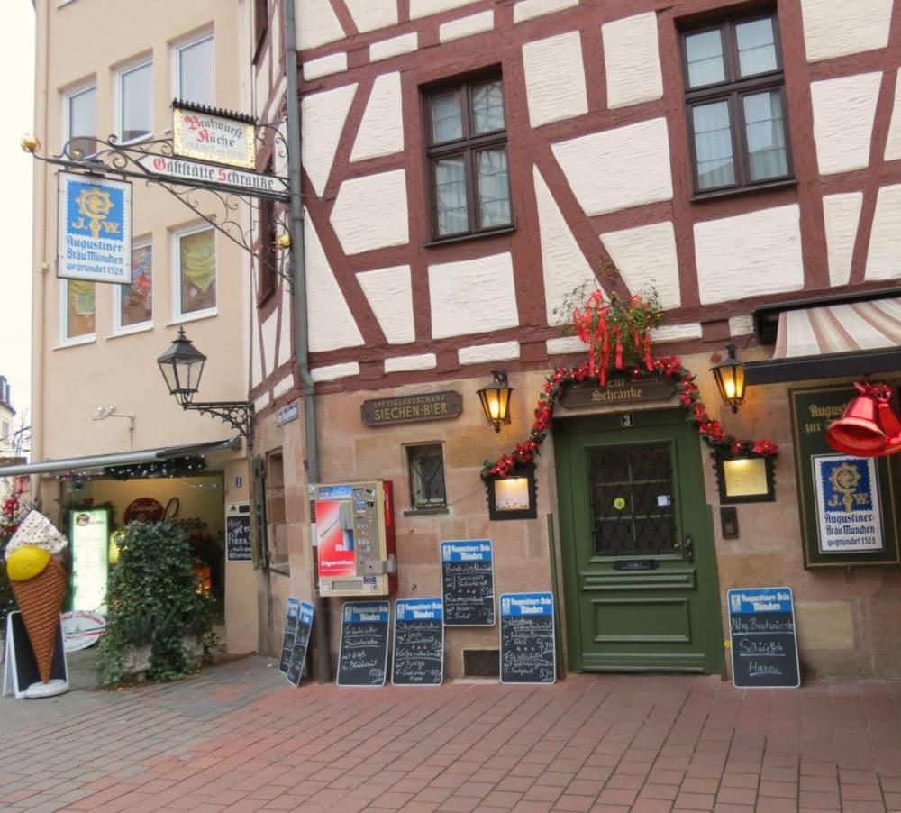 Augustiner Zur Schranke restaurant and beer garden in Nurnberg, Germany #nurnberg #nuremberg #Germany #Germanrestaurant