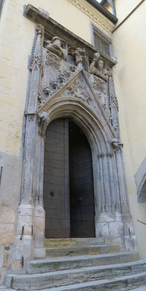 The door to a church in Regensburg, Germany