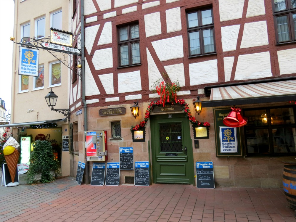The Seichen Bier establishment selling German beer in the city of Nürnberg