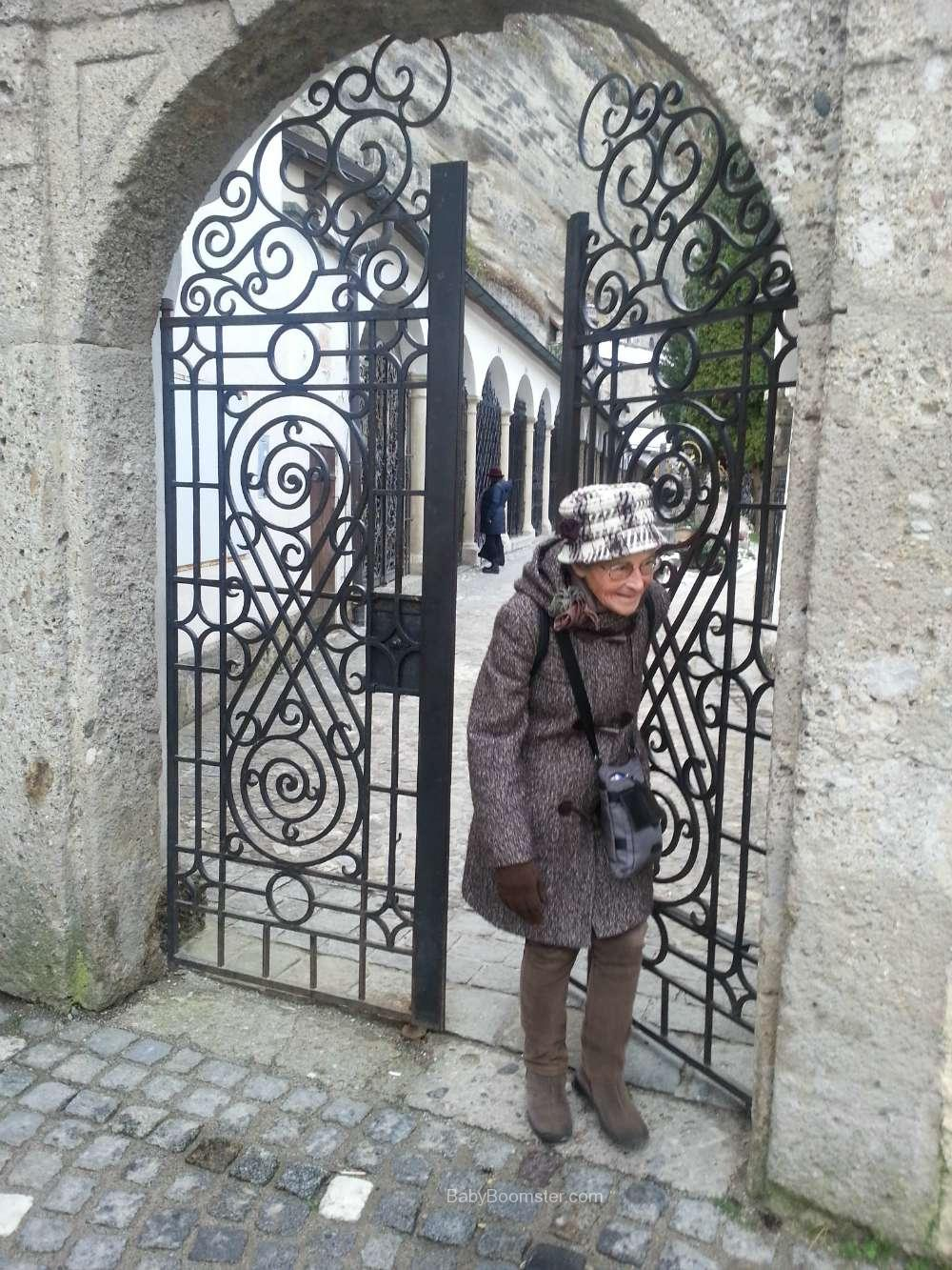 Baby Boomer Travel | Austria | Salzburg - old woman at cemetery