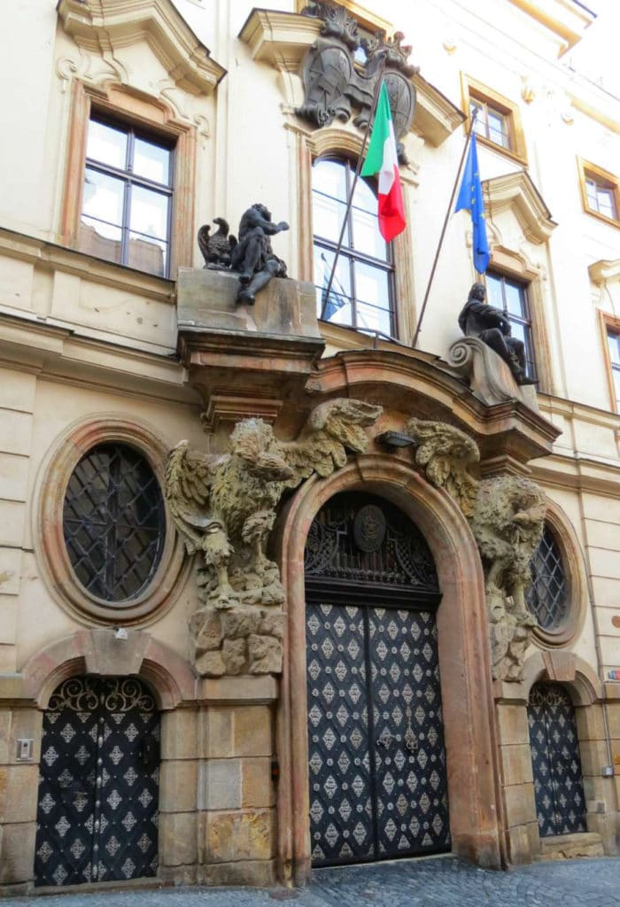 If you love #olddoors you will love the Portal and Door of Thun-Hohenstein Palace in #Prague #CzechRepublic