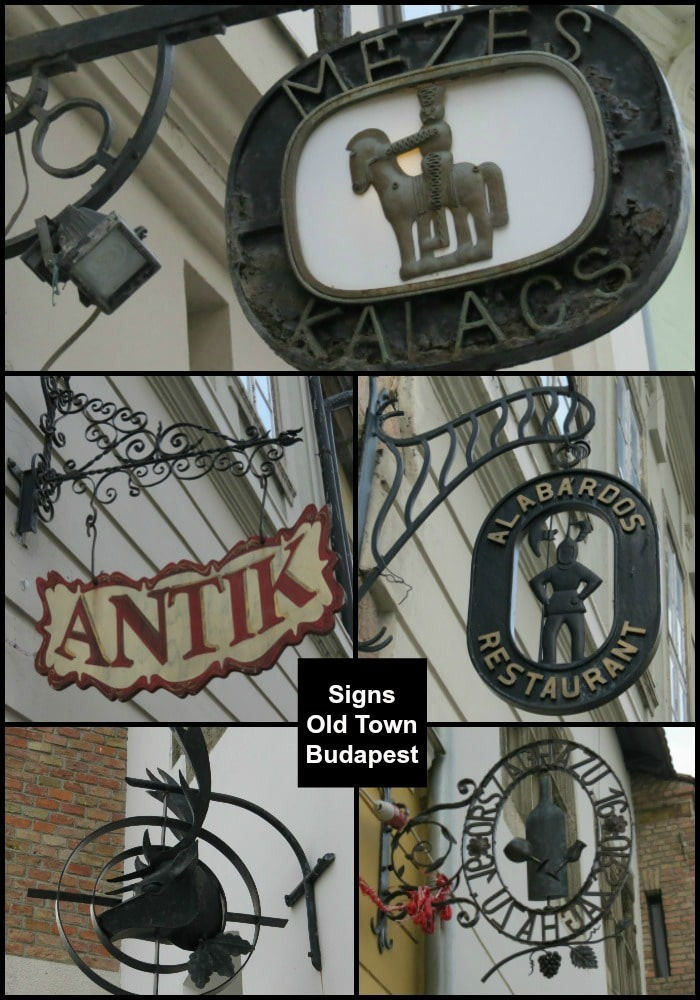 Boomer Travel | Budapest | Shop signs Old Town Buda