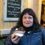 The food at German Christmas markets is always divine. Eating a Eating a steak w Wildschwein sandwich at the Thurn und Taxis Christmas Market in Regensburg, Germany #ChristmasMarkets #holidays #Regensburg #Germany