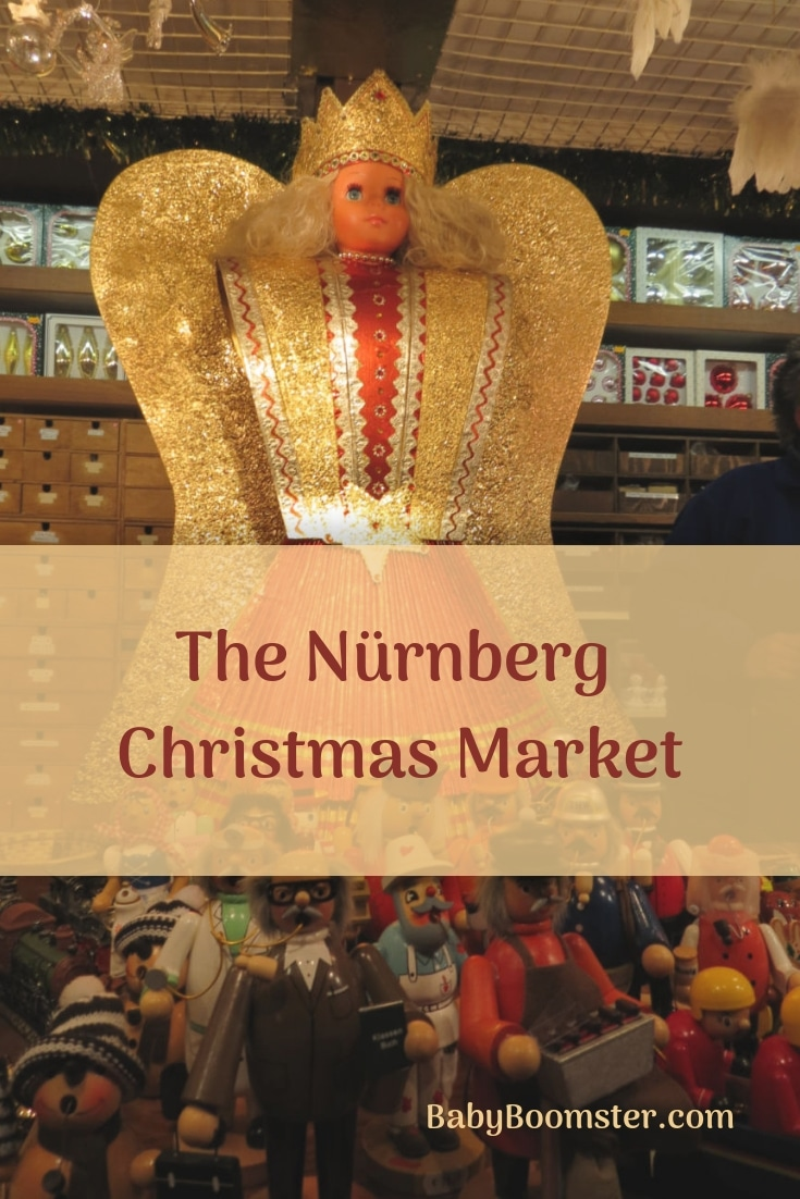The Angel at the Nürnberg Christmas Market in Germany - One of the biggest German markets. It's easily accessible if you take a river cruise on the Danube. This is a photo gallery of festivities along the way.