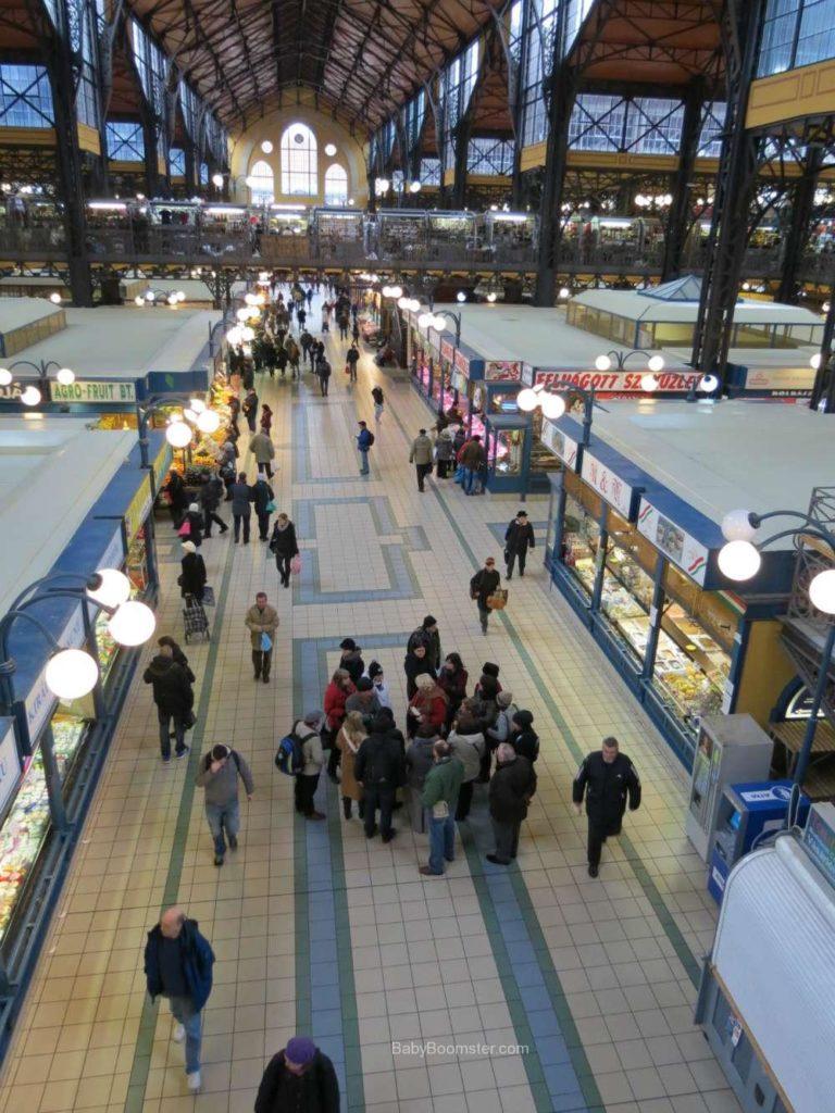 Baby Boomer Travel | Hungary | Great Market from Upper floor - Budapest