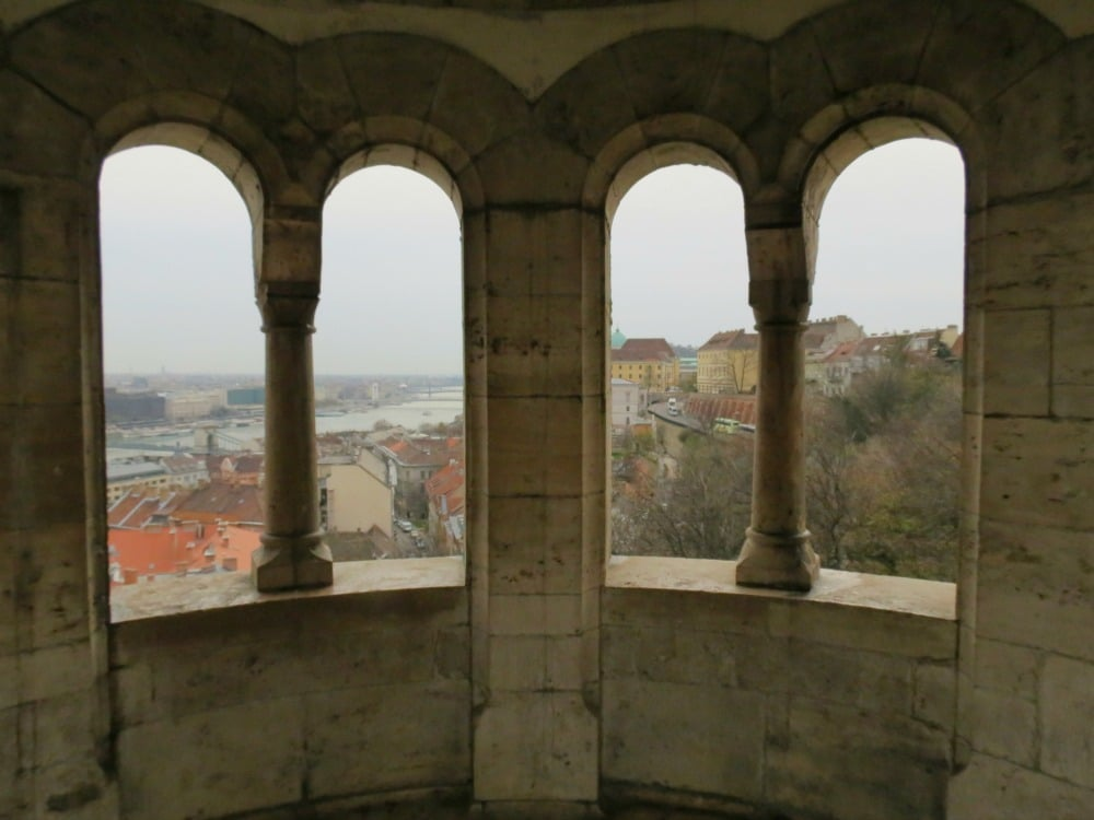 Boomer Travel | Budapest | View of Budapest through Arches