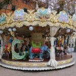 A merry-go-round at the Piazza Napoleone