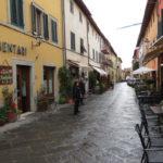 Street in Monecatini Alto Tuscany Italy