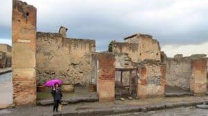 Pompeii in the rain